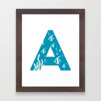 A Is For Angelfish - Ani… Framed Art Print