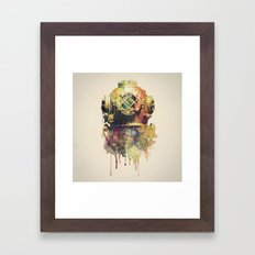 The Diver Framed Art Print