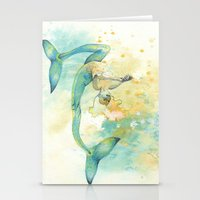 Two-tailed Mermaid Stationery Cards