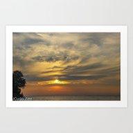 Art Print featuring Four Mile Creek Sky  by Jesse Cuddahee