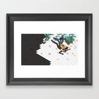 Fall Crash Infect Framed Art Print