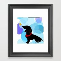 Dachshund Dog Art Print Framed Art Print