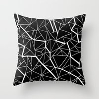 Ab Outline Mod Throw Pillow