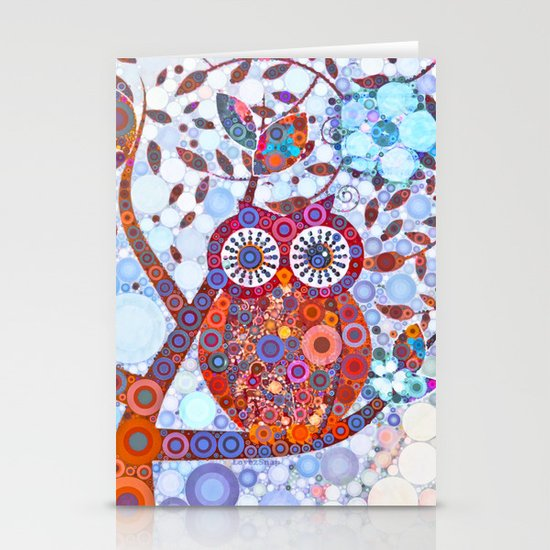 If Klimt Painted An Owl :) Owls are darling birds! Stationery Card