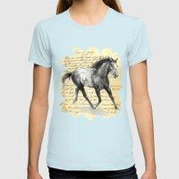 Appaloosa Stallion Womens Fitted Tee Light Blue SMALL