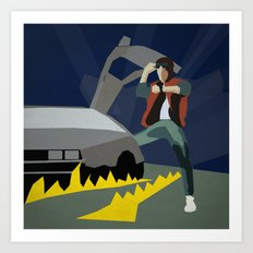 Back To The Future 1985 Art Print