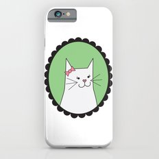 White Kitty Slim Case iPhone 6s