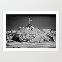 Salvation Mountain In Bl… Art Print