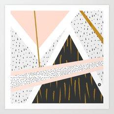abstract art gold Art Print