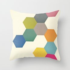 Honeycomb I Throw Pillow