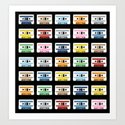 Rainbow Tapes Art Print