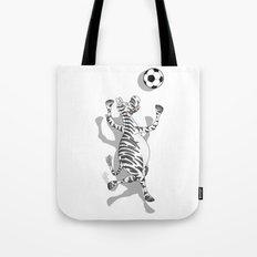 Zebra Football Tote Bag