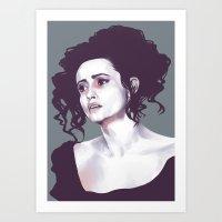 Helena Bonham Carter (Sw… Art Print