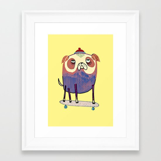 Pug Dude. Framed Art Print