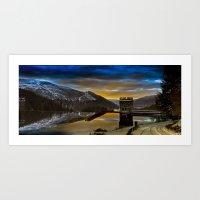 Frozen Dawn at Howden Dam Art Print