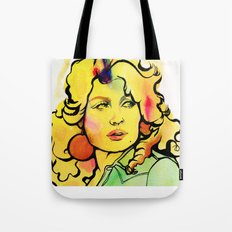 Dolly with Croissant hair Tote Bag