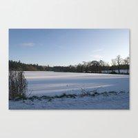 Snowy Lake Canvas Print