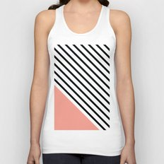 Diagonal Block - Pink Unisex Tank Top