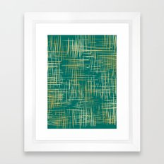 Crosshatch Emerald Framed Art Print