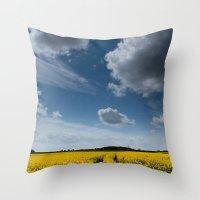 Blue Sky Thinking Throw Pillow