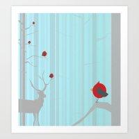 Winter Holidays Art Print