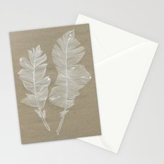 white feathers Stationery Cards