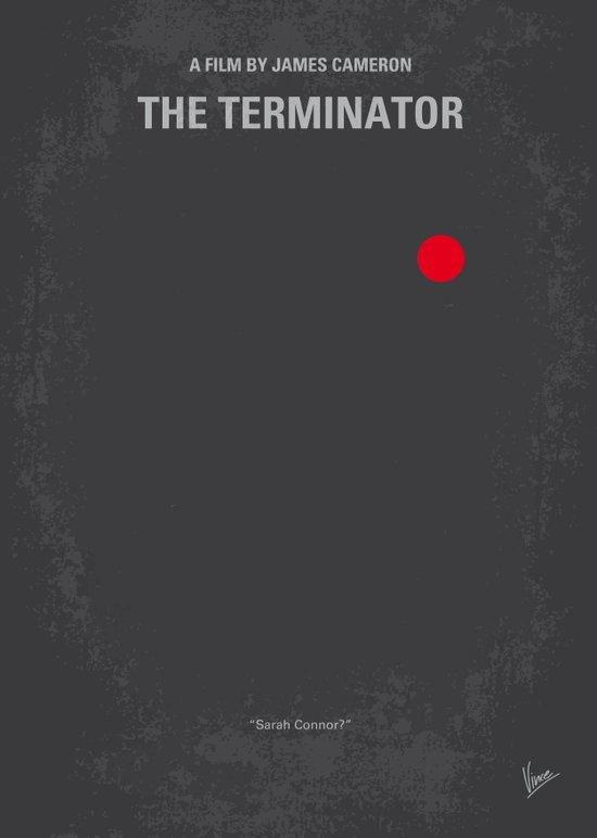 No199 My Terminator minimal movie poster Canvas Print
