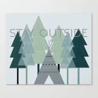 Stay Outside Canvas Print