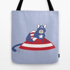 Captain AmeriCAT: The First Catvenger Tote Bag
