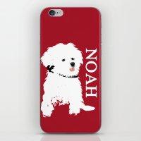 Bichon Frise Dog art iPhone & iPod Skin