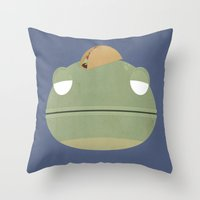 Taco Lizard Throw Pillow