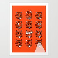 Eyes Of The Tiger Art Print