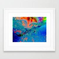 Dolphin Forest Framed Art Print