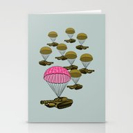 Tank Parachute Stationery Cards