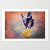 Butterfly Invention Art Print