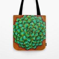 Succulent Mandala Tote Bag