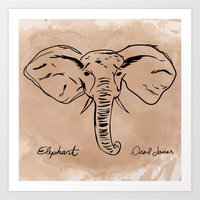 Deal James Elephant  Art Print