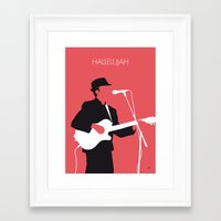 No042 MY LEONARD COHEN M… Framed Art Print