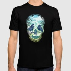 Nature's Skull Black Mens Fitted Tee SMALL