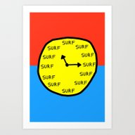 Surf Time All The Time Art Print