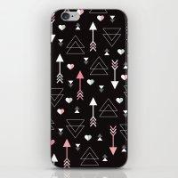 Geometric Black Arrow An… iPhone & iPod Skin