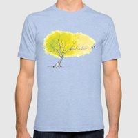 The Hummingbird Tree Mens Fitted Tee Tri-Blue SMALL