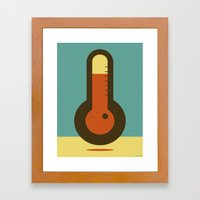 THERMO METER Framed Art Print