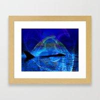 Dolphin Crossing Framed Art Print