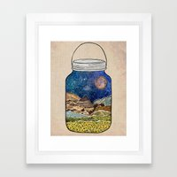 Star Jar Framed Art Print