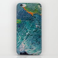 Ocean Depth Abstract Pai… iPhone & iPod Skin