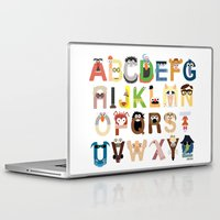 friends Laptop & iPad Skins featuring Muppet Alphabet by Mike Boon
