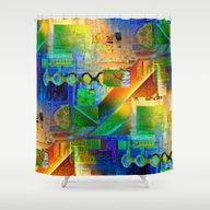Collage Pattern Shower Curtain
