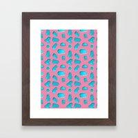 Urban Swimming pool pattern Framed Art Print