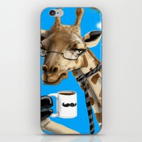 All Business Giraffe iPhone & iPod Skin